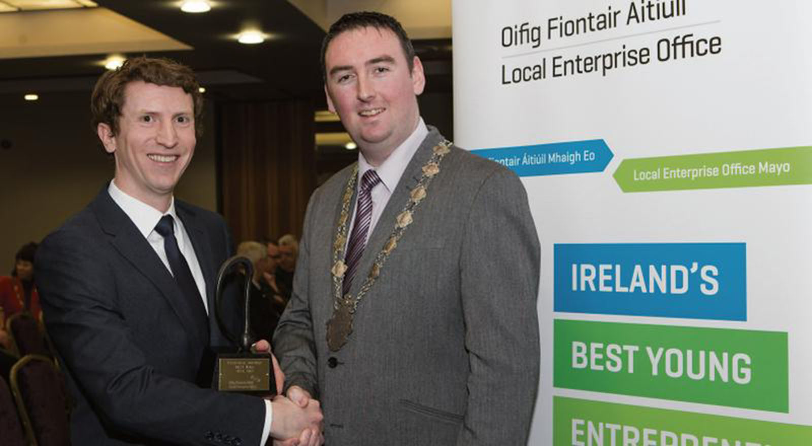 Dr. Brendan Boland in the final of Irelands Best Young Entrepreneur competition.